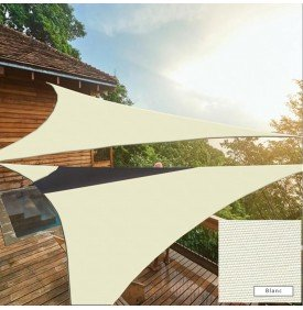 Voile d'ombrage triangulaire imperméable blanche