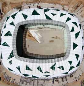 Voile d'ombrage architecturale pour stade de foot