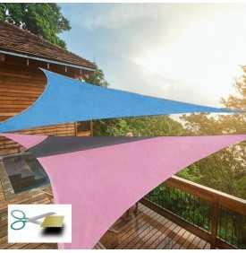 Voile d'ombrage sur mesure triangulaire