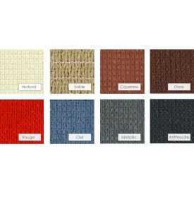 Huit choix de couleurs pour voile soleil et vent