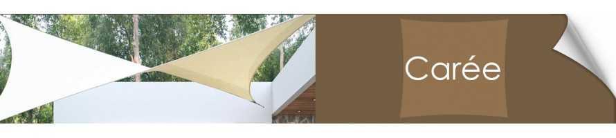 La Voile d'ombrage carrée, toile tendue pour jardin terrasse