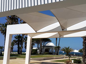 Voile d'ombrage architecturale