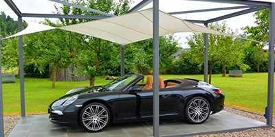 Voile d'ombrage pour carport et place de parking