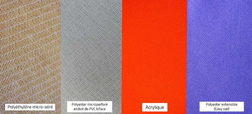 tissus des voiles d'ombrage rectangles sur mesure