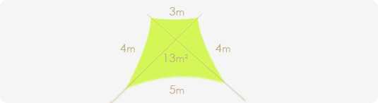 Taille voile d'ombrage trapèze imperméable