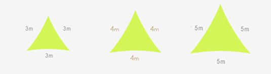 Taille voile d'ombrage triangle Easy Sail