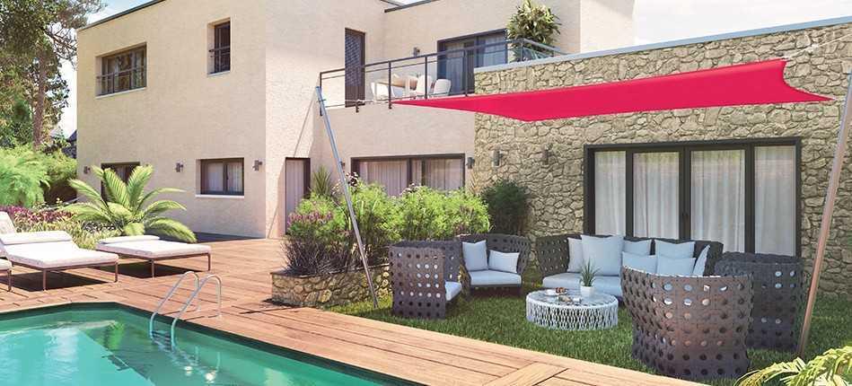 La toile pour terrasse : Le fleuron de la décoration extérieure