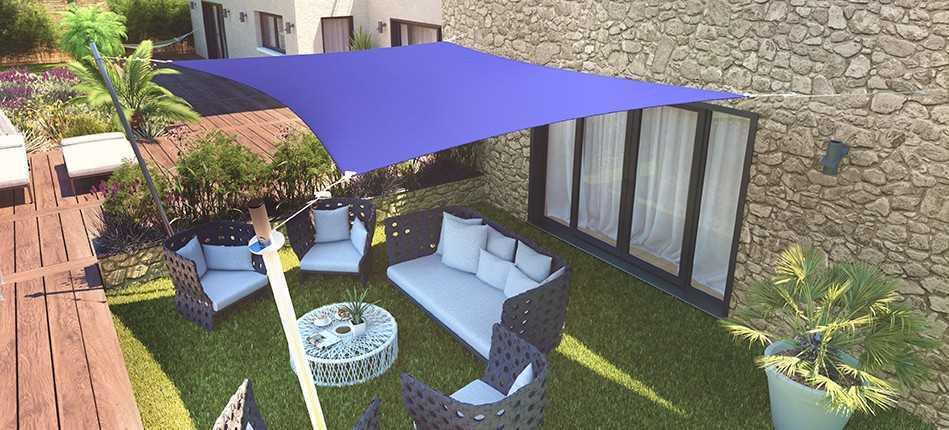 Osez les couleurs estivales pour votre voile d'ombrage !